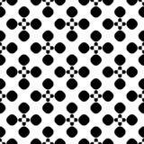 Vector naadloos patroon, bloemen gestippelde geometrische textuur Royalty-vrije Stock Foto's