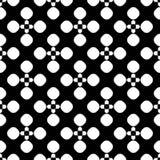 Vector naadloos patroon, bloemen gestippelde geometrische textuur Royalty-vrije Stock Foto