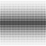 Vector naadloos patroon, cirkels halftone overgang Stock Fotografie