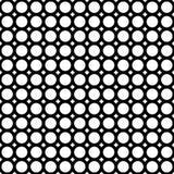 Vector naadloos patroon, cirkels & ringen, zwarte & wit Royalty-vrije Stock Fotografie