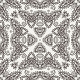 Vector naadloos patroon die kant imiteren Stock Afbeeldingen