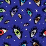 Vector naadloos patroon duizend ogen van Argus Royalty-vrije Stock Foto