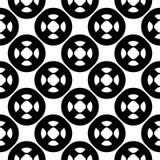 Vector naadloos patroon, eenvoudig geometrisch ornament Stock Foto's