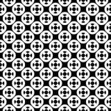 Vector naadloos patroon, eenvoudig geometrisch ornament Stock Afbeelding