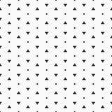 Vector naadloos patroon Eenvoudige stippen en driehoekenvormen Stock Afbeeldingen