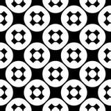 Vector naadloos patroon, eenvoudige zwart-wit minimalistische textuur Stock Foto