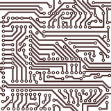 Vector naadloos patroon - elektronische kringsraad vector illustratie