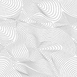 Vector naadloos patroon, gebogen lijnen, 3D effect Royalty-vrije Stock Fotografie
