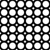 Vector naadloos patroon, geometrische tegels, cirkels & ringen Stock Afbeeldingen