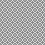 Vector naadloos patroon Geometrische textuur Zwart-witte achtergrond met kruisen, plus tekens Zwart-wit vierkant ontwerp vector illustratie