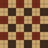 Vector naadloos patroon Geweven geruite Schotse wollen stofplaid Stock Afbeelding