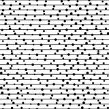 Vector naadloos patroon. Het herhalen van gestippelde lijnen. Royalty-vrije Stock Afbeelding