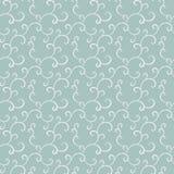 Vector naadloos patroon Krullen van ronde punten op een blauwe achtergrond Stock Fotografie