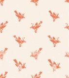 Vector naadloos patroon linocut stijl met vogels vector illustratie