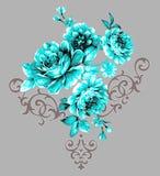 Vector naadloos patroon Merris De stijl van de manier Ontwerp voor stof rozen De stijl van de Provence royalty-vrije illustratie