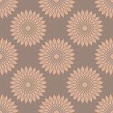 Vector naadloos patroon met abstracte bloemen Stock Foto's