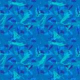 Vector naadloos patroon met abstracte bloemen stock illustratie