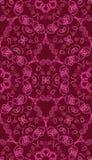 Vector naadloos patroon met abstracte rood en roze Stock Foto