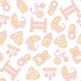 Vector naadloos patroon met babypunten Stock Afbeelding
