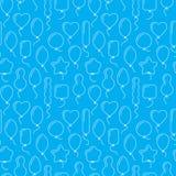 Vector naadloos patroon met ballons van verschillende vormen Stock Fotografie