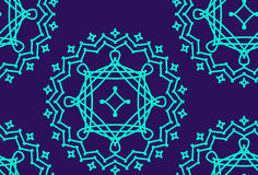 Vector naadloos patroon met bevallig kant lineart ornament Royalty-vrije Stock Fotografie