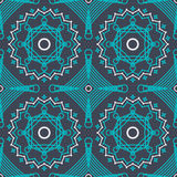 Vector naadloos patroon met bevallig kant lineart ornament Stock Foto's