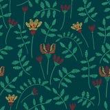 Vector naadloos patroon met bloemen vector illustratie
