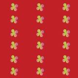 Vector naadloos patroon met bloemen helder royalty-vrije illustratie