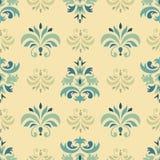 Vector naadloos patroon met bloemenornament Stock Afbeelding