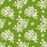 Vector naadloos patroon met bloemsilhouetten Stock Afbeeldingen