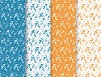 Vector Naadloos Patroon met Brandes en Bladeren Stock Afbeelding