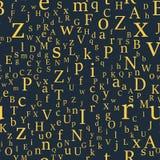 Vector naadloos patroon met brieven van het alfabet in willekeurige orde vector illustratie