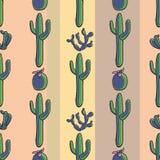 Vector naadloos patroon met cactus stock illustratie