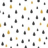 Vector Naadloos Patroon met Dalingen Stock Illustratie