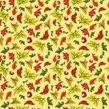 Vector naadloos patroon met de herfstbladeren Stock Fotografie