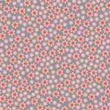 Vector naadloos patroon met de lentebloemen Royalty-vrije Stock Afbeelding