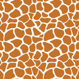 Vector naadloos patroon met de textuur van de girafhuid Het herhalen gir Stock Afbeeldingen