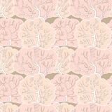 Vector naadloos patroon met de winterbos Stock Foto's