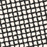 Vector naadloos patroon met diagonaal net, kabels, dwarslijnen Royalty-vrije Stock Afbeelding