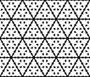 Vector naadloos patroon met driehoekige gesneden cijfers Stock Afbeeldingen