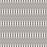 Vector naadloos patroon met dunne snijdende lijnen Traditioneel ornament Stock Foto's