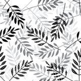 Vector naadloos patroon met etnische stijlbladeren Stock Afbeeldingen