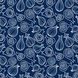 Vector naadloos patroon met fig. Exotische vruchten royalty-vrije illustratie