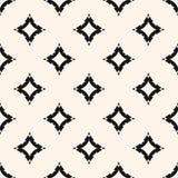 Vector naadloos patroon met gebogen diamantvormen, sterren, ruiten Stock Foto