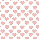 Vector naadloos patroon met gekleurde harten vector illustratie