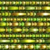 Vector naadloos patroon met gekleurde parels Stock Afbeelding