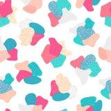 Vector naadloos patroon met hand getrokken abstracte vormen Geweven cijfers Materieel Ontwerp Creatieve achtergrond vector illustratie