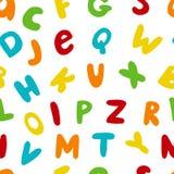 Vector naadloos patroon met hand getrokken Engelse brieven vector illustratie