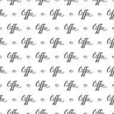 Vector naadloos patroon met handrawn het van letters voorzien royalty-vrije illustratie