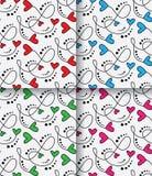 Vector naadloos patroon met harten Stock Fotografie